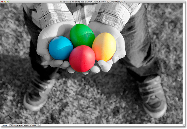 Photoshop selective coloring effect. Image © 2012 Photoshop Essentials.com