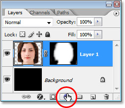 Clicking the 'New Adjustment Layer' icon.