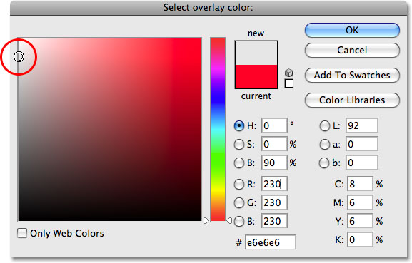 The Color Picker in Photoshop.