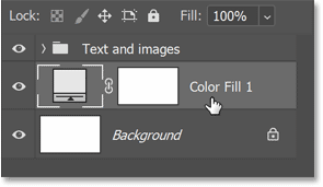 The Solid Color fill layer in Photoshop's Layers panel