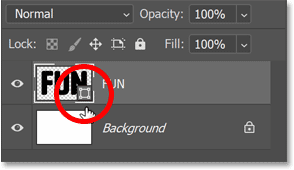 Shape layers have their own icons in the previous thumbnail.