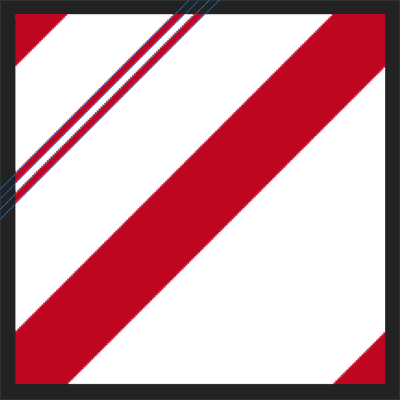 A second smaller candy cane stripe is added above the first