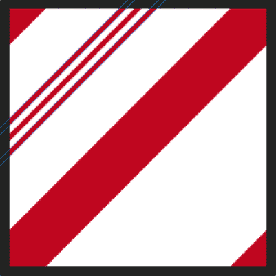 The third smaller candy cane stripe is added to the pattern