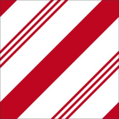 A candy cane pattern with red stripes created in Photoshop