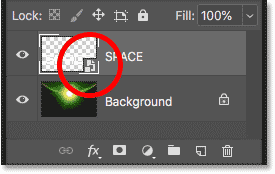 The Type layer has been converted to a smart object in Photoshop