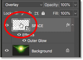 Opening the smart object to edit the text in Photoshop