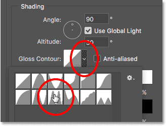 Changing the Gloss Contour option to Ring - Double in Photoshop's Bevel and Emboss options