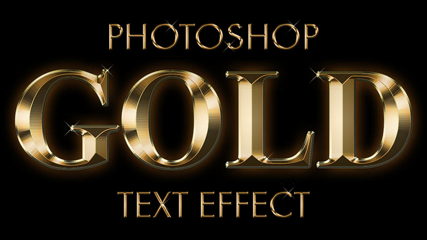 How to create a gold text effect in Photoshop