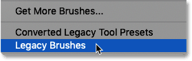 How to load the Legacy Brushes in Photoshop CC