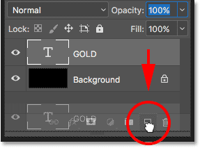 Duplicating the 'GOLD' Type layer