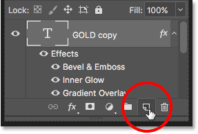 Clicking the Add New Layer icon in the Layers panel.