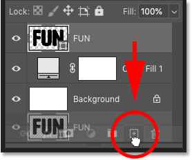 Making a copy of the shape layer in Photoshop's Layers panel