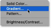 Adding a Gradient fill layer