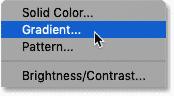 Adding a Gradient fill layer