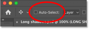 The Auto-Select option is turned off for the Move Tool