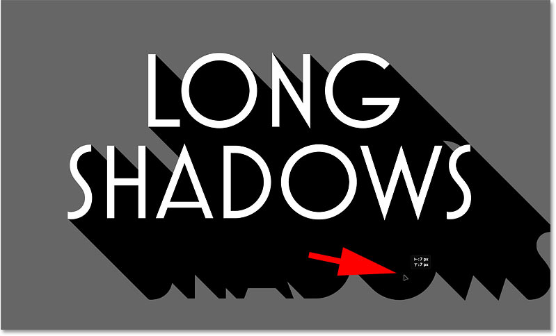 Positiing a second copy of the shadow to extend it.