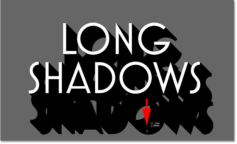Deagging out a copy of the shadow layer using Photoshop's Move Tool