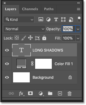 Photoshop's Layers panel showing the layers in the document