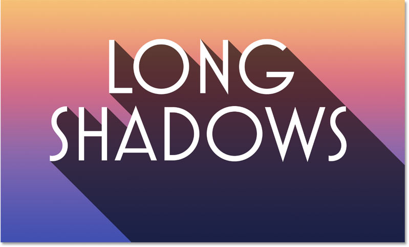 A long shadow effect created in Photoshop