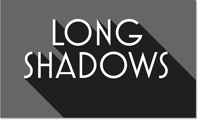 The long shadow effect with the shadow opacity lowered
