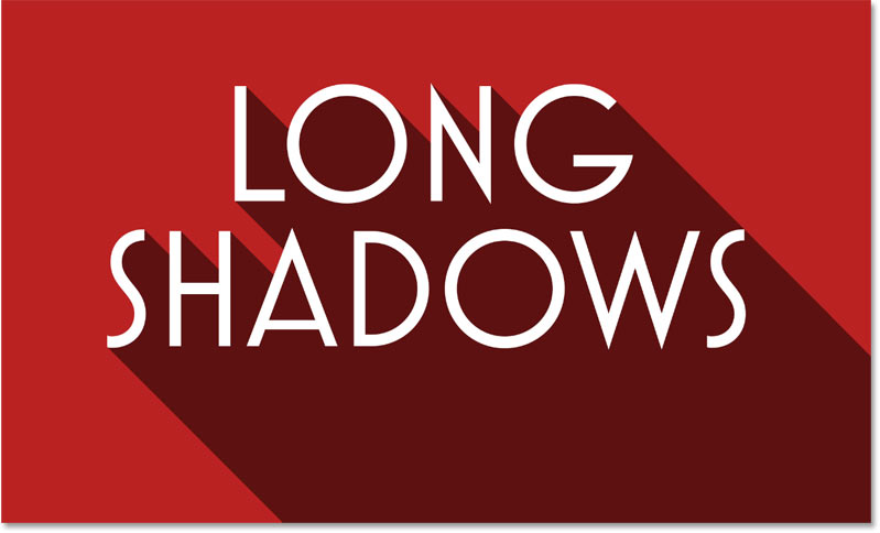 The long shadow effect with the shadow opacity lowered even further