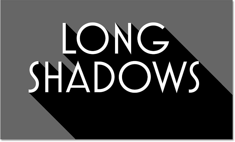The long shadow effect after adding multiple shadow layers