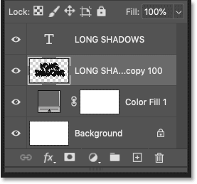 The shadow is now on a single layer.
