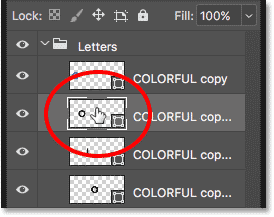 Double-clicking on the second Shape layer thumbnail in the Layers panel