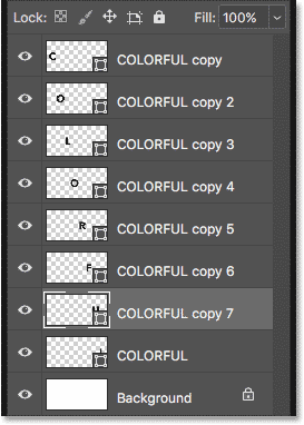 How to move Type letters to separate layers in Photoshop