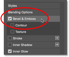 Adding a Bevel and Emboss layer style.
