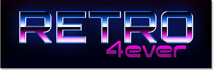 The text with the 80s Retro Neon gradient applied.