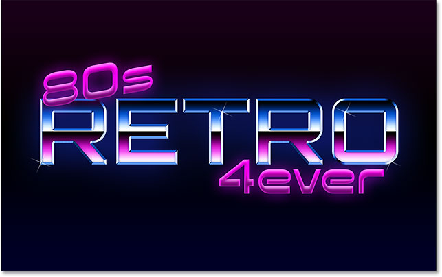 Photoshop 80s retro text effect.