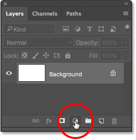 Clicking the New Fill or Adjustment Layer icon in the Layers panel.