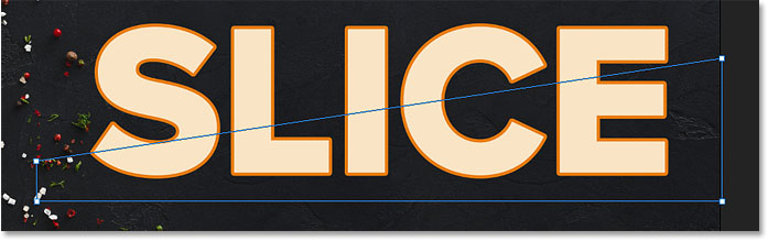 The top slice of the text appears in Photoshop