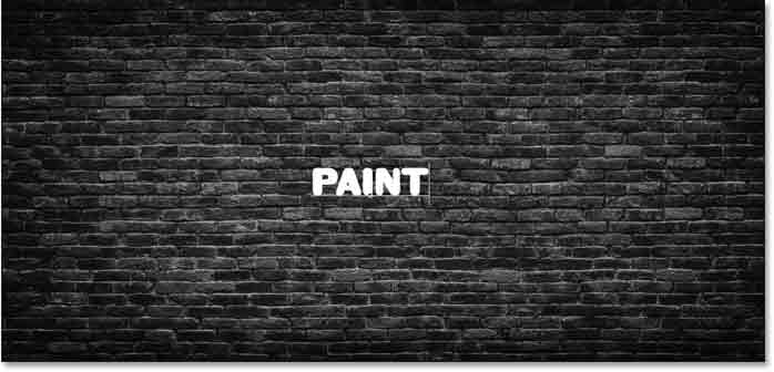 Adding the text to use for the spray paint effect in Photoshop