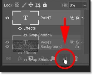 Duplicating the Type layer in Photoshop