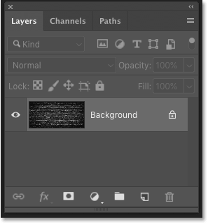 Photoshop's Layers panel showing the Background layer
