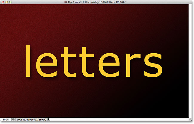 Original Photoshop text. Image © 2011 Photoshop Essentials.com.