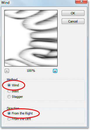 Photoshop Text Effects: Photoshop's Wind filter