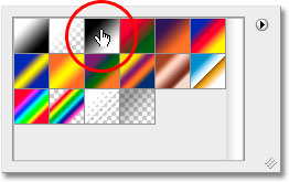 The Gradient Picker in Photoshop. Image © 2010 Photoshop Essentials.com.