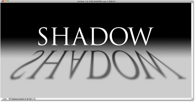 Perspective Shadow Text Effect In Photoshop